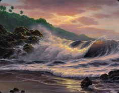 A Beira Mar.... Pintura de Noelito