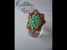 ▶ Ring with Superduos and seed beads . Take a look. Very nice.