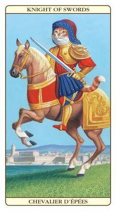 King of Swords King Of Swords, Knight Sword, Tarot Meanings, Fancy Cats, Oracle Tarot, Vintage Cat, Sacred Art, Tarot Decks, Tarot Cards