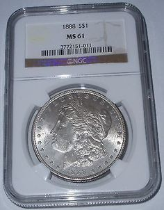 1888-P Morgan Silver Dollar - NGC Grade MS 61