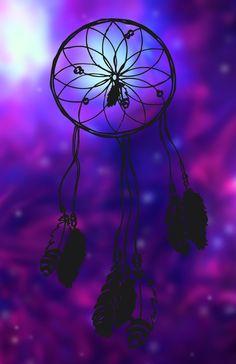 All this- and I still Dream!  Dreamcatcher (purple) Art Print