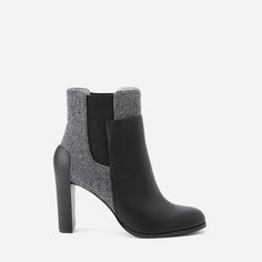 FAVRICA - [CHARLES & KEITH] デュオトーンアンクルブーティ / DUO-TONE ANKLE BOOTIES