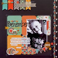 #papercraft #scrapbook #layout Always Benember