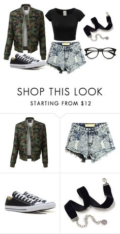 """Untitled #84"" by marija-jozic on Polyvore featuring LE3NO, Converse and Sweet Romance"