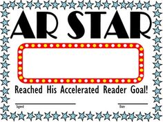 Accelerated reader level and goal bookmarks for the year accelerated reader award ar star two versions reached accelerated reader yadclub Choice Image