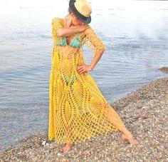 Women / Dresses Day Robe Poétique et Romantique Handcrochet long dress tunic