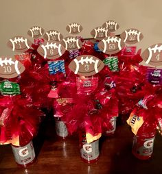 Football Senior Night Gatorade Candy Bouquets.