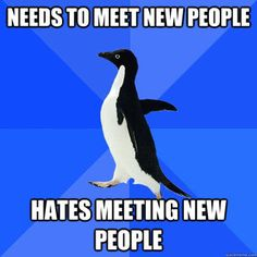 Socially Awkward Penguin and I really must get better at this...