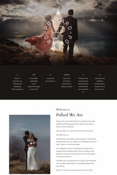 Our customer website showcase - www.pollardweare.com Evóra is a stylish, captivating website theme for photographers, bloggers and influencers who love to set trends, stand out and have fun while creating a beautiful website! It includes 2 remarkable style kits and intriguing design elements that will keep your users curious to explore more! Website Layout, Website Themes, Photography Website Design, Website Design Inspiration, Wordpress Theme, Design Elements, Wedding Decor, Wedding Ideas, Wedding Photography
