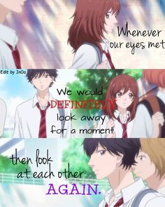 We All Did This In School Before Anime Ao Haru Ride