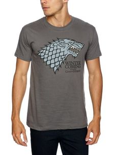 Trademark Game Of Thrones Logo Stark Direwolf - Camiseta, con manga corta para hombre #camiseta #realidadaumentada #ideas #regalo