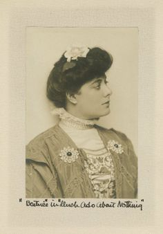 Julia Marlowe as Beatrice in Much Ado About Nothing. Photograph, early 20th century. Folger Shakespeare Library.