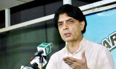 Interior Minister Chaudhry Nisar