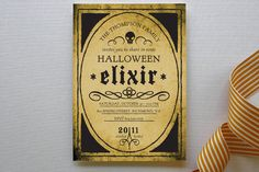 elixir halloween party invitations by mandy gordon for minted