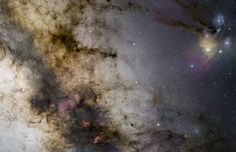 The center of the Milky Way galaxy as seen from the Earth.  Image credit: Stéphane Guisard/ESO/GigaGalaxy Zoom