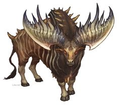 Delgeth (Demon/Beast/Anaye)(Large) – The stags from hell, the Delgeth. Mythical Creatures Art, Alien Creatures, Mythological Creatures, Magical Creatures, The Beast, Fantasy Monster, Monster Art, Creature Feature, Creature Design