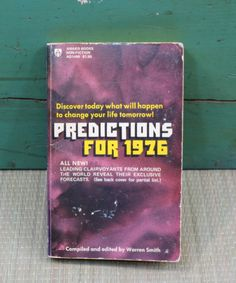 Predictions for 1976 Paperback Book Warren by 13thStreetEmporium, $10.00