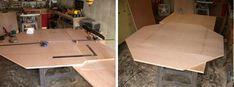 How to Build a Poker Table - Step by Step Instructions Poker Table Diy, Poker Table Plans, Woodworking Hand Planes, Woodworking Videos, Woodworking Plans, Octagon Poker Table, Pine Trim, Hardwood Lumber, Minwax Stain