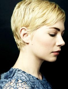 Michelle Williams. My model Madeleine has pixie hair similar to Michelle. I also loved the way Michelle looks down and I imagined my models doing the same when being photographed in the model shoot.