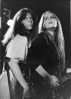 Runaways: Jackie Fox and Lita Ford circa 1976 via