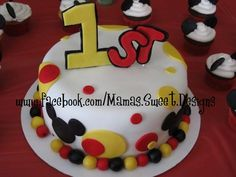 mickey mouse 1st birthday cakes | mickey mouse 1st birthday cake mickey mouse cake cupcakes and cake ...