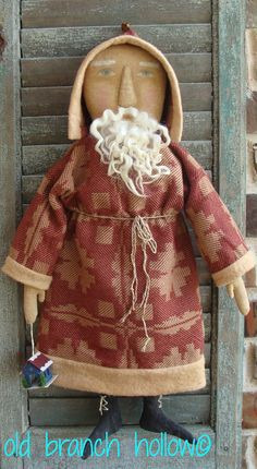 Primitive Santa Red Coverlet Coat ~Spoken For