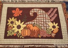 no sew placemat pillow craft idea, crafts, home decor, thanksgiving decorations