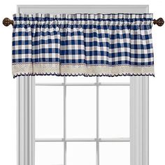 Buffalo Check Valance - Burgundy (Red) x Valance Curtains, Curtain Length, Buy Windows, T Home, Updated Kitchen, Kitchen Updates, Kitchen Ideas, Colorful Curtains