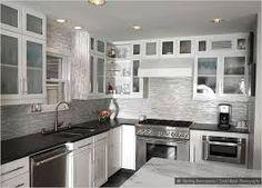 White Kitchen Black Countertop tile backsplash with black cuntertop ideas | white cabinet black