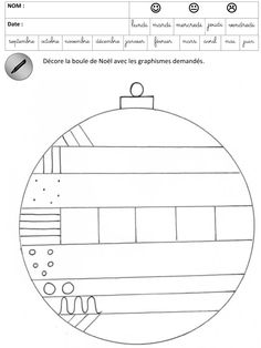 was einfach alles verändert Das Décore les boules de noël Graphisme Maternelle Petite section Moyenne section Cycle 1 Pass Education Kennst du das. Christmas Math, Christmas Tree Crafts, Preschool Christmas, Christmas Activities, Christmas Balls, Activities For Kids, Noel Christmas, Printable Christmas Ornaments, Free Christmas Printables