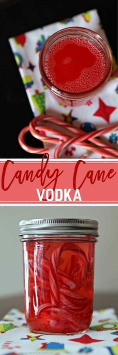 Get in the holiday spirit by making this homemade Candy Cane Vodka. It's easier than you think! Candy canes dissolve in a jar of vodka to create this simple infused alcohol. Mix Candy Cane Vodka into seasonal mixed drinks at holiday parties or add a shot to your hot chocolate for even more festive flavor. This infused alcohol creates so many unique cocktails for the season and is sure to add good cheer when shared with friends and family!