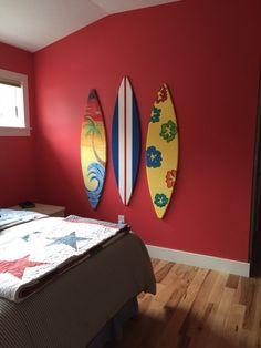 5FT custom surf surfboard wood wall decor by SurfboardBeachArt