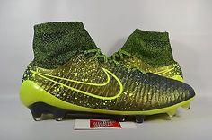 NEW Nike Magista Obra FG DARK CITRON GREEN VOLT BLACK 641322-370 sz 11 CLEATS
