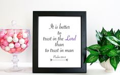 Bible Verse Quote Print, Psalm 118:8 It Is Better... Quote Art Print, Art Print, Art Gift, Printed Art, Calligraphic Print, Printable Quote by ScreenQuotes on Etsy