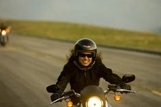 Biker Lady having a blast!