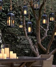 I could find something like this that is weatherproof and solar, and hang them in the trees so that the back yard always looks so pretty. Tree Lanterns, Solar Lanterns, Solar Lights, Hanging Tree Lights, Hanging Candles, Lights In Trees, Outdoor Hanging Lanterns, Outdoor Chandelier, Garden Lanterns