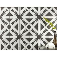 Fl Guest: Shower Floor // Apache Black and White Matte Porcelain Tile - 8 x 8 - 100585454 Black And White Backsplash, Black And White Tiles, Black White, Ceramic Floor Tiles, Porcelain Tile, Porcelain Countertops, Tile Wood, Cold Porcelain, Porcelain Ceramics
