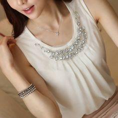 2015 New Fashion Feminine Blouses White Streetwear Blouse Women Clothes Shirt Women's Summer Fashion, New Fashion, Fashion Women, White Chiffon Blouse, Chiffon Blouses, Streetwear, Korean Women, Ladies Dress Design, Shirt Outfit