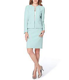 Tahari ASL Crepe Peplum Skirt Suit #Dillards