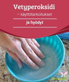Vetyperoksidi - käyttötarkoitukset ja hyödyt   Vetyperoksidilla on desinfioiva, valkaiseva ja antibakteerinen vaikutus, joka on hyväksi kodille, keholle ja kauneudelle. Lue lisää tästä artikkelista!