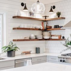 Outstanding modern kitchen room are readily available on our site. look at this and you wont be sorry you did. Farmhouse Style Kitchen, Modern Farmhouse Kitchens, Rustic Kitchen, Home Kitchens, Kitchen Decor, Kitchen Design, Kitchen Ideas, Kitchen Wall Lighting, Shiplap In Kitchen