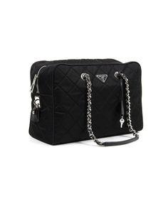 PRADA Quilted Handbag Tessuto Impuntu'. #prada #bags #leather #nylon #