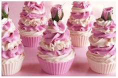 Rose Cupcake Soaps