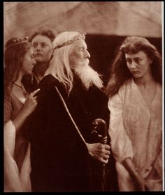 'King Lear allotting his kingdom to his three daughters', by Julia Margaret Cameron, 1872.