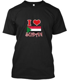 I Love Sudan Black T-Shirt Front - This is the perfect gift for someone who loves Sudan. Thank you for visiting my page (Related terms: I Heart Sudan,Sudan,Sudanese,Sudan Travel,I Love My Country,Sudan Flag, Sudan Map,Sudan Language, Su #Sudan, #Sudanshirts...)
