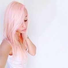 There's something so delicately #beautiful about the #palest #pastel #tint... @SammyAshey used our #CottonCandyPink over #platinum #blonde #hair, and she looks amazing. To get a light tint like this, be sure to add in a bunch of our #Pastelizer and just a teaspoon or so of the dye.