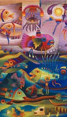 Maximo Laura Tapestry Art, Water World Tapestries