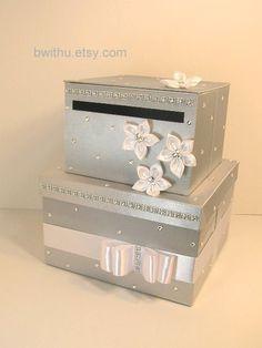 Wedding card box burgundy and silver gift card box money box wedding card box gift card box money box por bwithustudio en etsy 9000 solutioingenieria Gallery