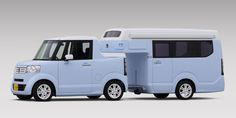 Honda built a micro truck/camper combo and it's amazing. N-TRUCK pickup concept and N-CAMP trailer.