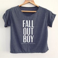 Crop Fall Out Boy Shirt Fob Shirt Fall Out Boy Tunic Women's Clothing... ($13) ❤ liked on Polyvore